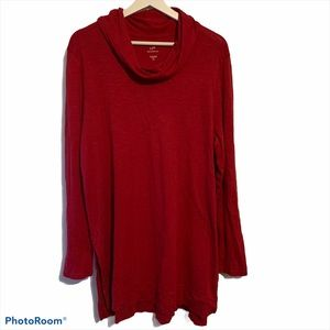 J. Jill XL Tall Pima cotton cowl neck tunic split